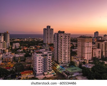 Sunset over the City of Santo Domingo