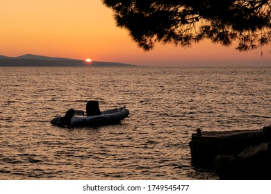 sunset over the dalmatian coast