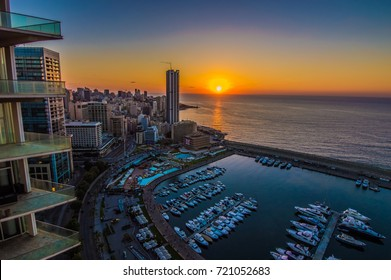 Sunset Over Downtown Beirut