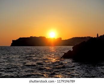 Sunset over Dubrovnik Croatia