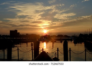 Sunset over the Elizabeth River in Norfolk