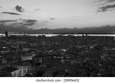 Sunset over Florence, Italy (black and white)