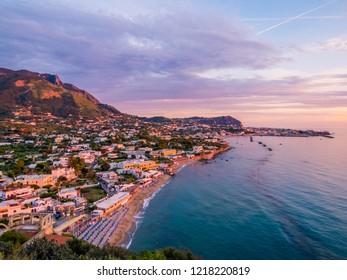Sunset over Forio, Ischia Island, Italy