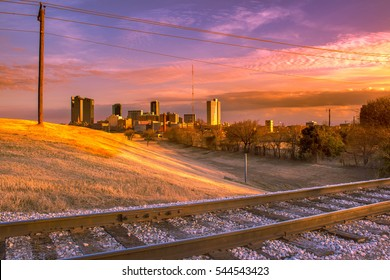 Sunset over Fort Worth, Texas