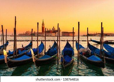 Sunset over the Gran Canal, Venice, Italy