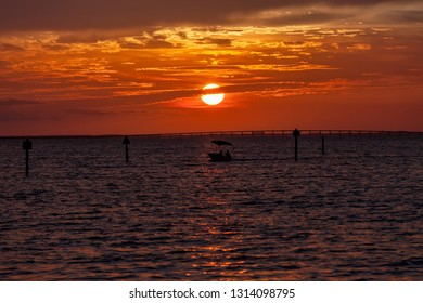 Sunset over the Gulf of Mexico in the Florida Panhandle
