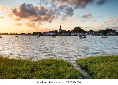 Sunset over the harbour at Bosham near Chichester on the Sussex coastline