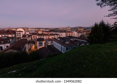 Sunset over Hondarribia, at the Basque Country.