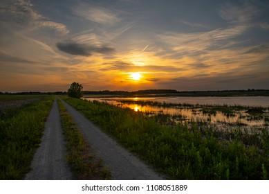 Sunset over Horicon Marsh