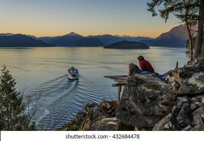 Sunset over Horseshoe Bay, British Columbia, Canada