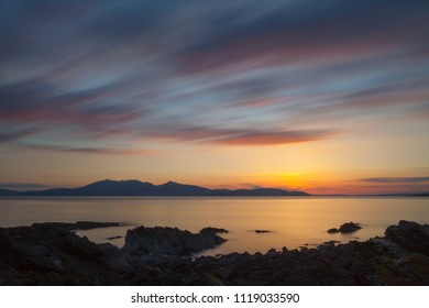 Sunset over the Isle of Arran