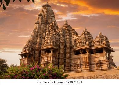 Sunset over Kandariya Mahadeva Temple