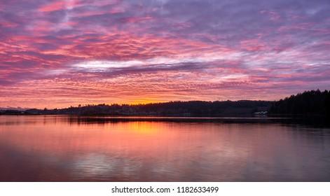 Sunset over lagoon!