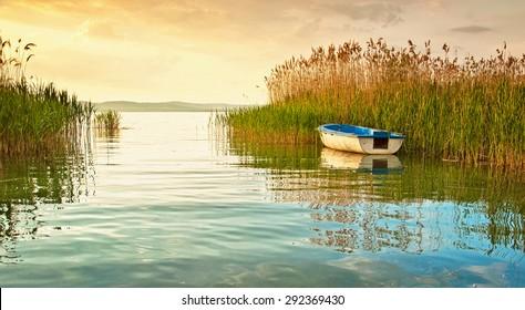 Sunset over lake Balaton, Hungary