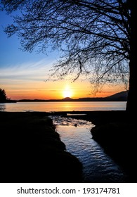A Sunset Over Lake Quinault in the Pacific Northwest