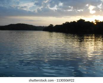 Sunset over Lake Taneycomo, Branson, MO