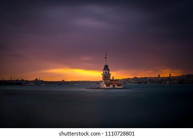 Sunset over Maiden Tower