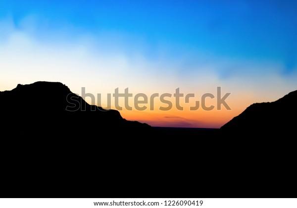 Sunset Over Makoshika State Park