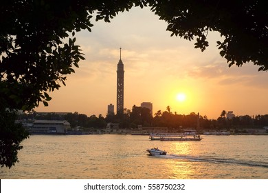 Sunset over Nile River - Cairo, Egypt