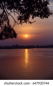 Sunset over the Nile River in Juba, South Sudan.