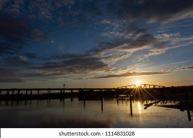 Sunset over North Everett, WA