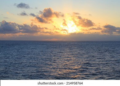 Sunset over North Pacific Ocean