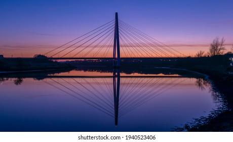Sunset over the Northern Spire Bridge - Sunderland