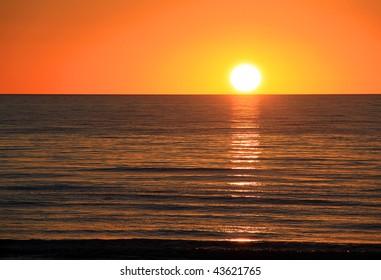 Sunset over Ocean.  Larg's Bay, Adelaide, Australia