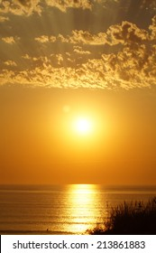 Sunset over the ocean in the west of France (Lacanau)