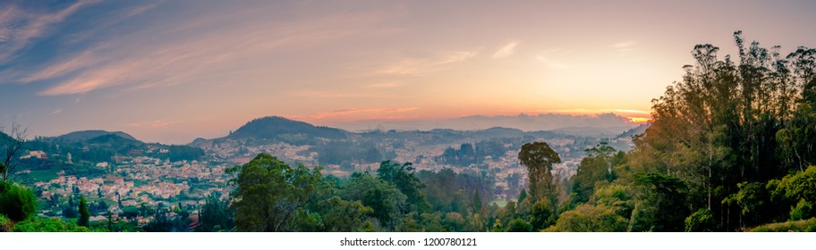 Sunset over Ooty, Tamil Nadu, India