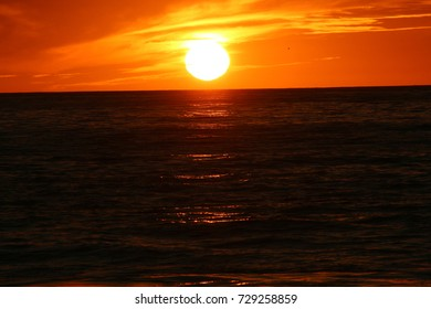 Sunset over Pacific Ocean, California