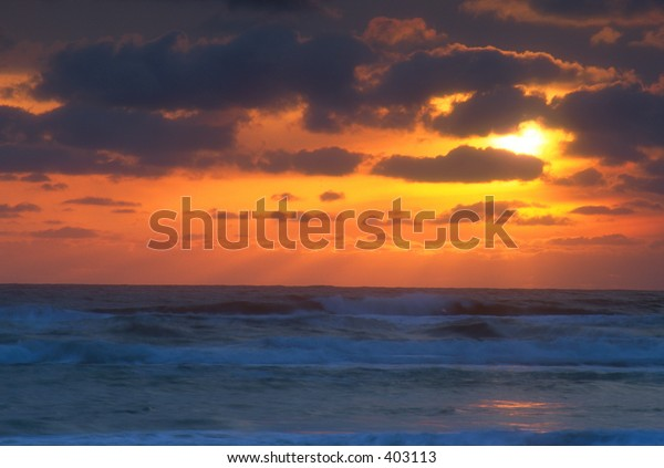 Sunset over Pacific Ocean, Oregon, USA