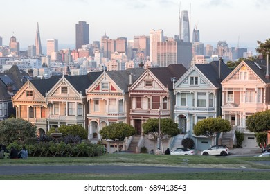 Sunset Over The Painted Ladies, USA
