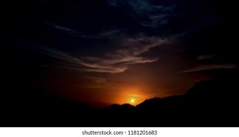 Sunset over Palakkayam Thattu, Kannur, kerala, India