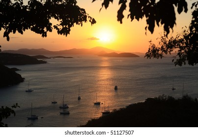 Sunset over Paradise-like US Virgin Islands