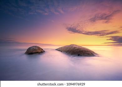 Sunset over a peaceful beach