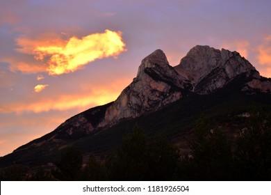 Sunset over Pedraforca, Spain