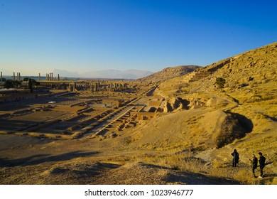 Sunset over  Persepolis Iran UNESCO Site-