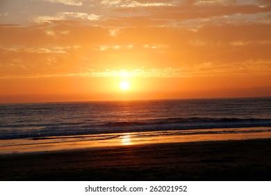 Sunset over Pismo Beach California