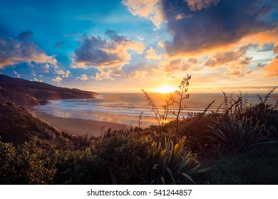 Sunset over Raglan