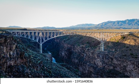 Sunset over the Rio Grande Gorge Bridge, Taos, New Mexico, United States