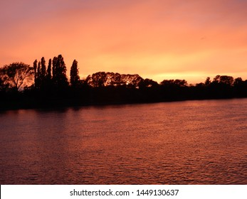 Sunset over the River Thames at Putney