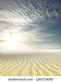 Sunset over the Sahara Desert