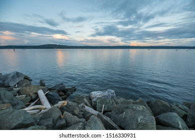 Sunset over the Salish Sea, Campbell River, Canada