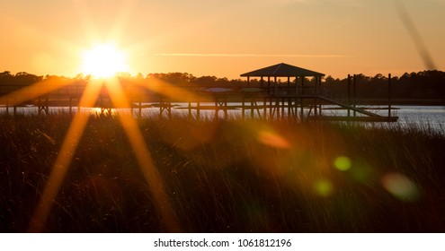 Sunset Over SC Lowcountry