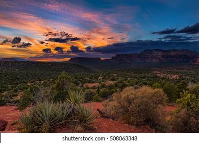 Sunset over Sedona, Arizona