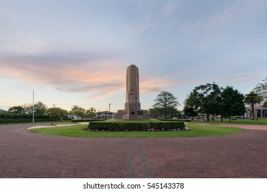 Sunset over Shrine Of rememberance, Dubbo, New South Wales, Australia.