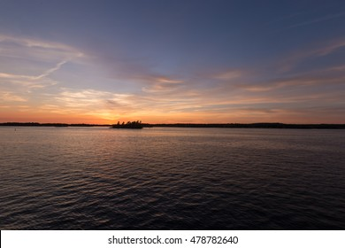 Sunset over the St. Lawrence Seaway