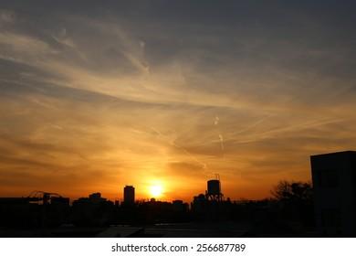 sunset over Tabata.