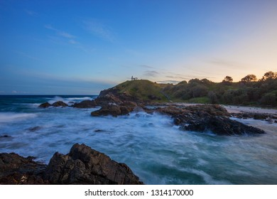 Sunset over Tacking Point Lighthouse.Port Macquarie,Mid North Coast of NSW,Australia.